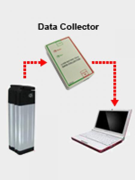 Battery information can be viewed on computer through the connection of data collector.